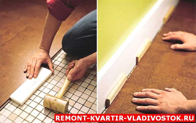 """Укладка полов. Укладка теплого пола, плитки на пол, деревянного пола, ламината на пол, цены """"под ключ"""" во Владивостоке"""