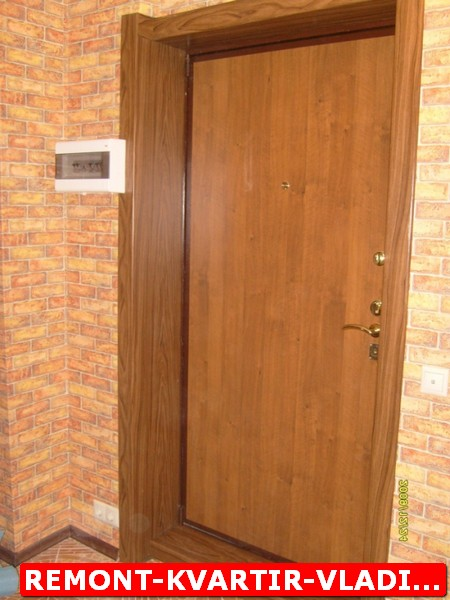 отделка при установки входной двери