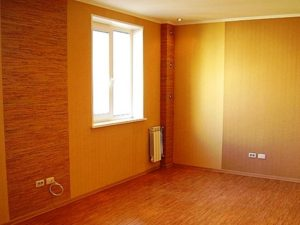Ремонт в зале фото в квартире обои