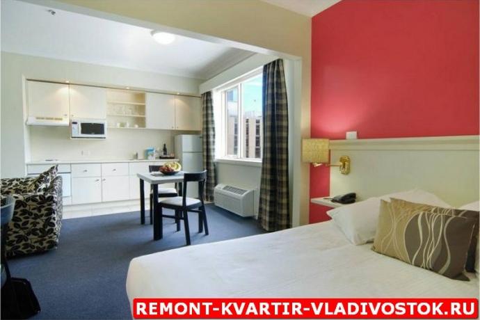 Дизайн проект интерьера однокомнатной квартиры фото портфолио